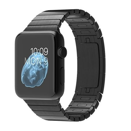 Apple Watch - 42mm Space Black Case with Space Black Stainless Steel Link Bracelet