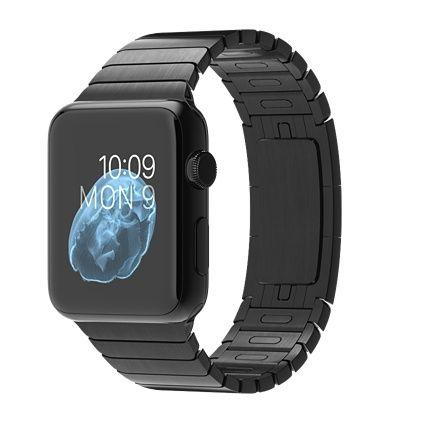 Apple Watch - 42mm Space Black Stainless Steel Case with Space Black Stainless Steel Link Bracelet - Apple (UK)