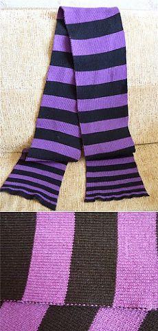 Черепашьи бега: Машинное вязание: широкие полосы - куда прятать нить при смене цвета?