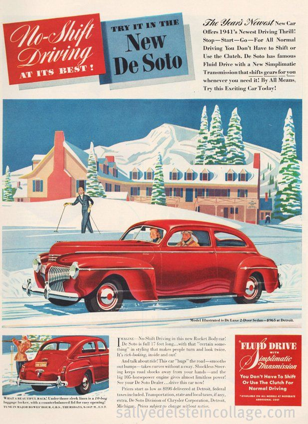 Best Vintage Car Ads Images On Pinterest Vintage Cars