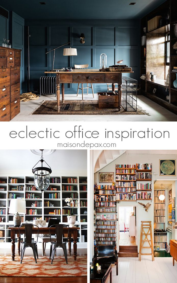 gorgeous eclectic offices with decorating ideas | maisondepax.com