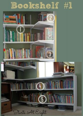 Organize Your Homeschool Bookshelves