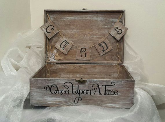 Shabby Chic Once Upon A Time Wedding Card by CraftyWitchesDecor, $100.00