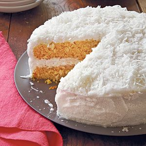 Coconut Cake makes an indulgent end-of-meal dessert. Coconut milk, found with the Asian foods in the supermarket, makes this cake moist and rich.