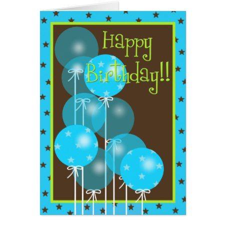 Happy Birthday Balloon Wishes! Card - click to get yours right now!