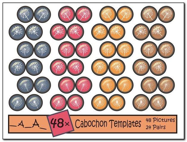 11 besten cabochon vorlage bilder auf pinterest cabochon vorlagen sticker und cabochons - Cabochon selber machen ...
