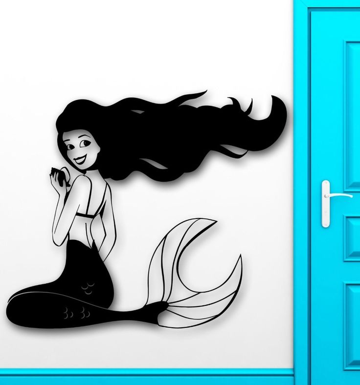 ==> [Free Shipping] Buy Best New Sexy Girl Vinyl Wall Decal Mermaid Cool Decor for Kids Baby Room Nursery Removable Home Decor Salon Mural Art Wall Sticker Online with LOWEST Price | 32321879422