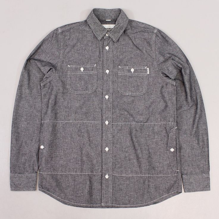 Carhartt Work In Progress Alex Long Sleeve Shirt Black Rinse £80.00