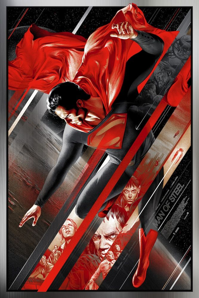 Posters for MAN OF STEEL by Martin Ansin and Ken Taylor - More > http://collider.com/martin-ansin-man-of-steel-poster-mondo/