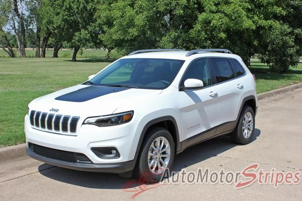 2018 2020 Jeep Cherokee Trailhawk Hood Decal T Hawk Factory Oem Style Center Blackout Vinyl Graphic Stripes Jeep Cherokee Jeep Cherokee Trailhawk Jeep