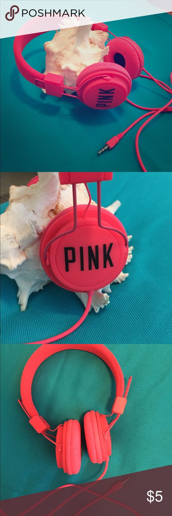 Headphones Victoria secret PINK headphones.  Never used.  Adjustable ears.  Standard plugin. PINK Victoria's Secret Other