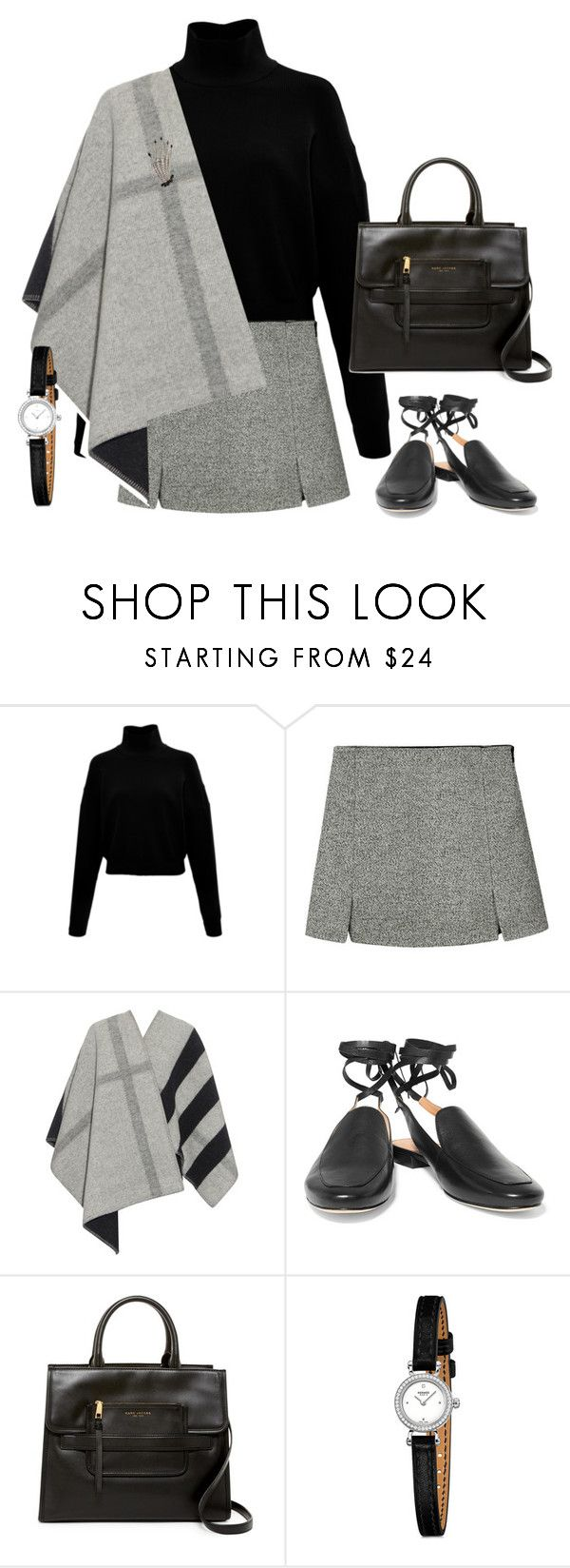 """""""Без названия #2274"""" by assema123 ❤ liked on Polyvore featuring Burberry, Sigerson Morrison, Marc Jacobs and Butler & Wilson"""