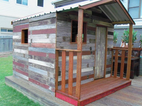 Unique Recycled Timber Cubby House