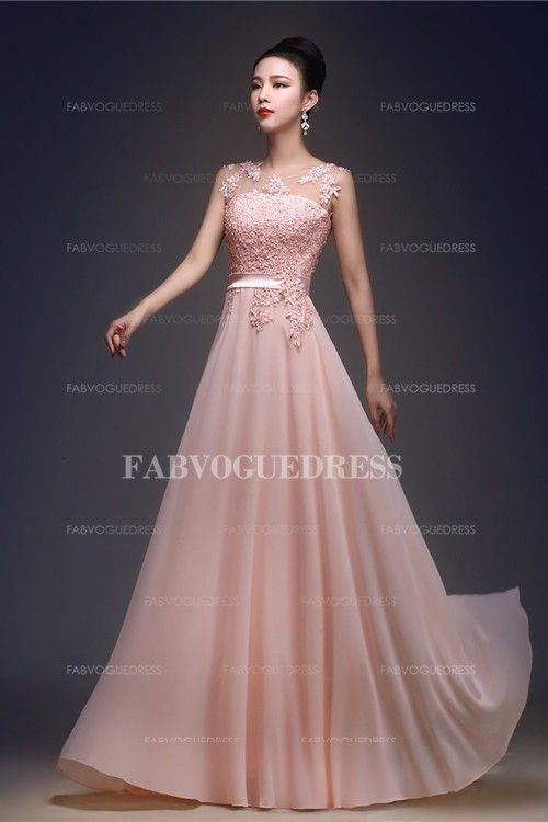 Chiffon lace prom dress