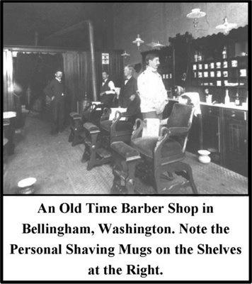 vintage barber shops | Whiskey Jack's Trading Post: Collectible Shaving Mugs