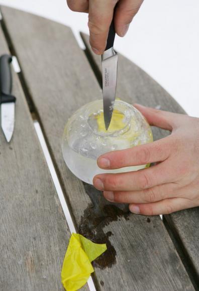 Eislaternen bauen