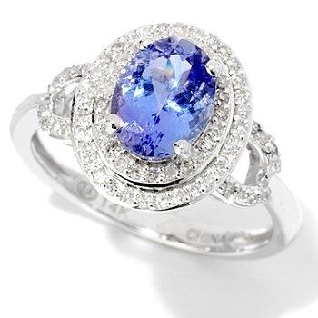 Gem Treasures Tanzanite & Diamond Ring