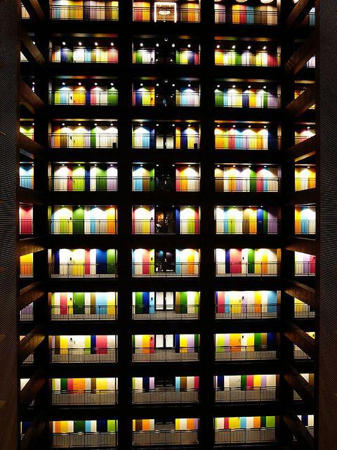 Colorful hallways.