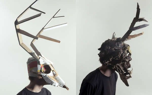 Cardboard Animal Masks - The Jozef Mrva Masks Are Eerie and Creatively Crafted