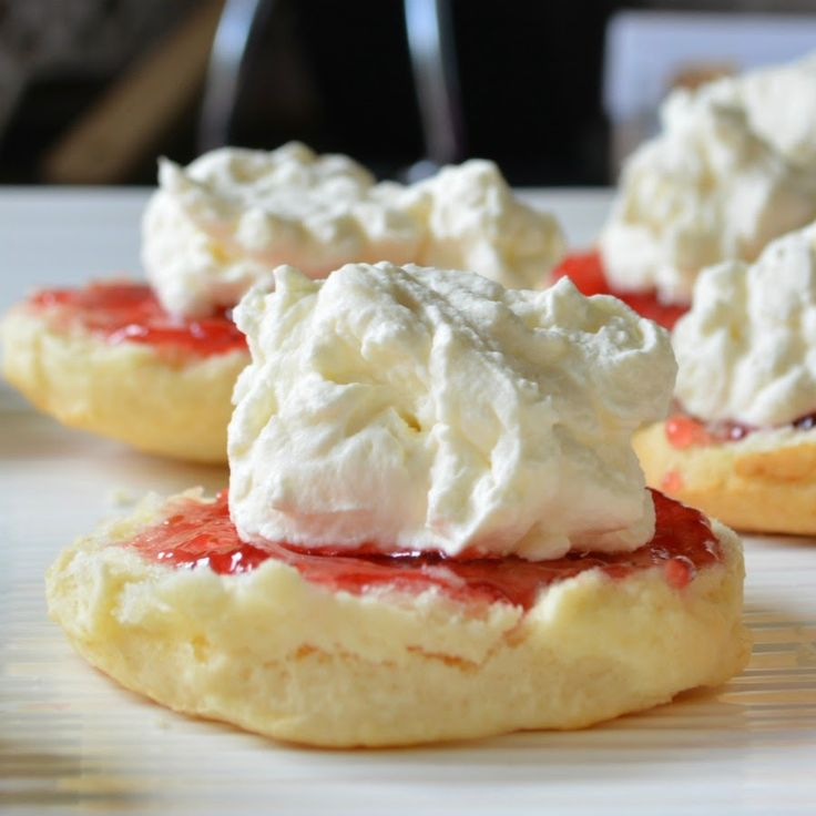 """Scones - Only three ingredients and no eggs! """"I swear to you, in my humongous family these are ALWAYS the first to go and that's saying something because every dish holds a delight!""""   mellywoodsmansion.com"""