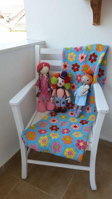 tilda bebek, tilda doll, fabric doll, handmade doll, toy, amigurumi doll, crochet doll, örgü oyuncak, elişi oyuncak, kumaş bebek,african flower blanket, crochet, african flower crochet