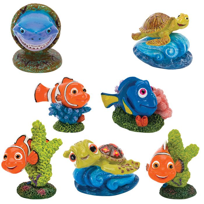 Fish tank things to turn into ornaments for finding nemo for Fish tank ornaments