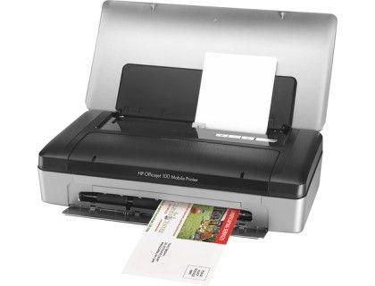 HP - Officejet 100 Wireless Printer - Gray/Black - Alternate View 12