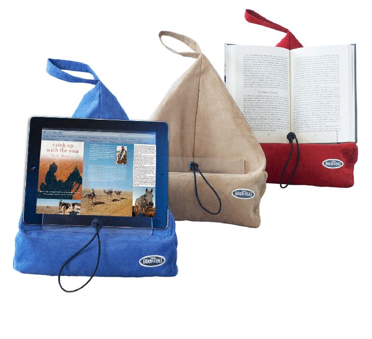 Book Seat - bean filled holder for hands-free reading, PC or gaming