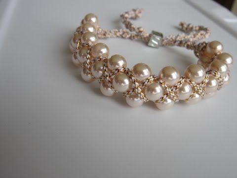 Браслеты,серьги.Мастер-класс.Проволока,бусины,бисер.Wrist,strap beaded jewelry. - YouTube