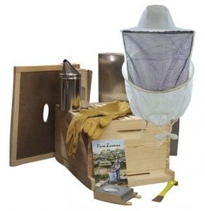 Bee Hive - 10 Frame Standard Beehive Starter Kit and Beekeeping Supplies (Unassembled - Wood) - Perfect Hives for Beginners and Pro Beekeepers - Beekeeper Kits for Honey Bees, Easy-to-lift Wood Beehives, Quality Equipment - Boxes, Frames, Smoker, Fuel, Veil, and Gloves to Fit Any Bee Suit. QUALITY GUARANTEED or Your Money Back!