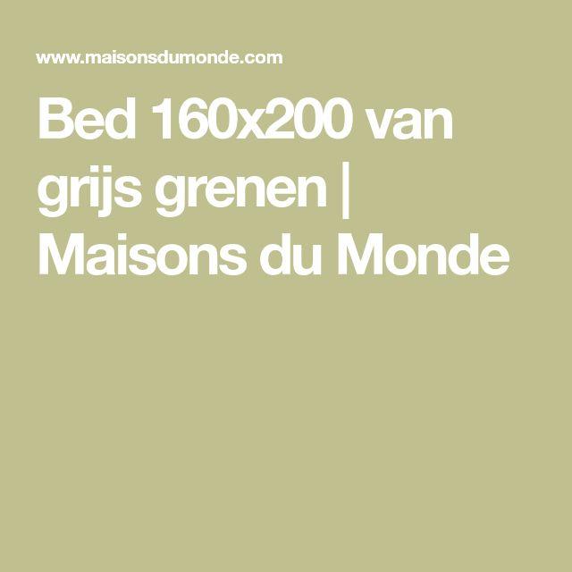 Bed 160x200 van grijs grenen | Maisons du Monde