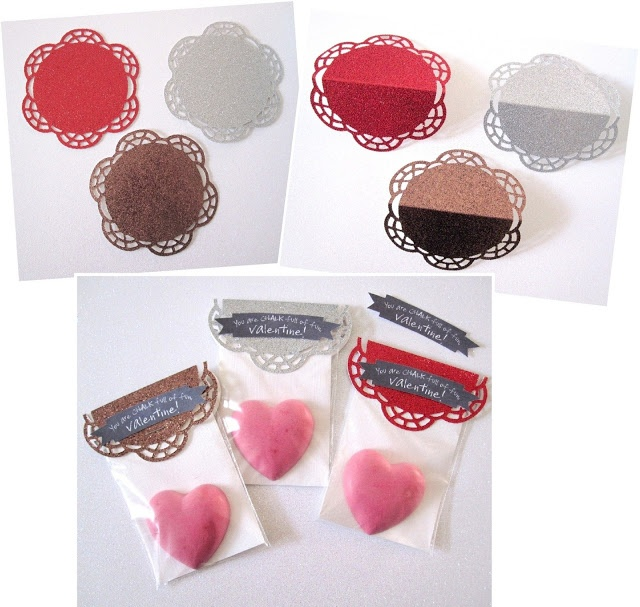 The Scrap Shoppe: Homemade Glitter Chalk for Valentine's Day
