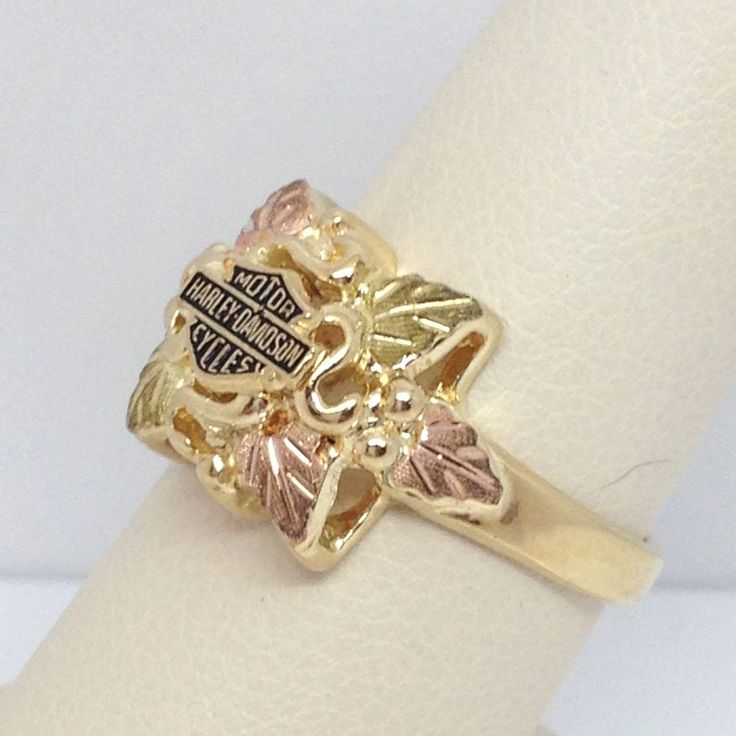 ster harley davidson black gold ring jewelry