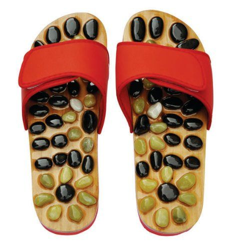 Amazon.com: Reflexology Sandals - Natural Stone Massage Shoes and Sandals: Health & Personal Care