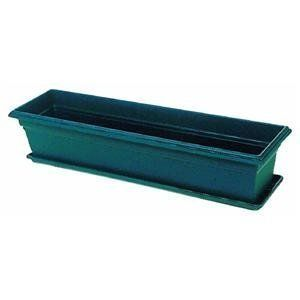 Novelty 16301 Countryside Planter, Hunter Green, 30-Inch Length by Novelty. Save 39 Off!. $15.21. Countryside planter. Removable drainage plugs, non-fading, earth tone colors; molded-in feet. Available in hunter green color; 11.2 quarts capacity. Choose countryside flower box planter for a showy display under windows, on porches and decks, and along walkways. Measures 30-inch length by 8-inch width by 6.5-inch height. Choose this countryside flower box planter for a showy di...