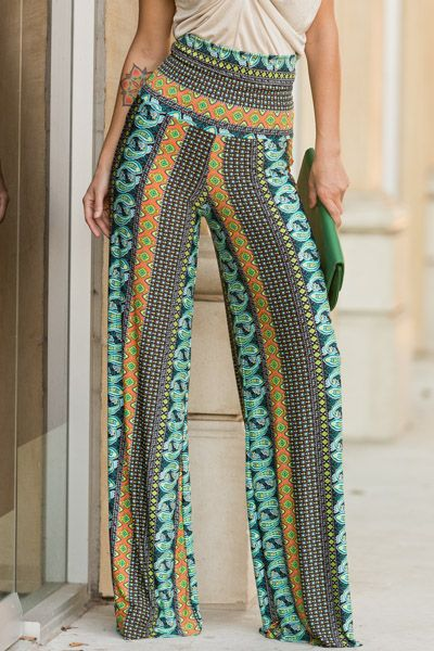 Print high waist pants www.southernragsclothing.com Facebook: Southern Rags Clothing