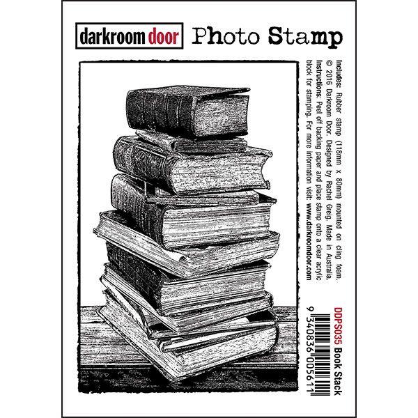 Darkroom Door Photo Stamp - Book Stack