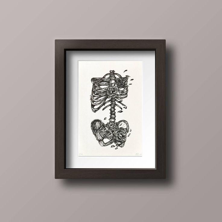 Human Anatomy print // Skeleton Art // Skeleton Print // Floral Skeleton // Skeleton and Flowers print // Halloween by Noordavind on Etsy https://www.etsy.com/no-en/listing/536196671/human-anatomy-print-skeleton-art