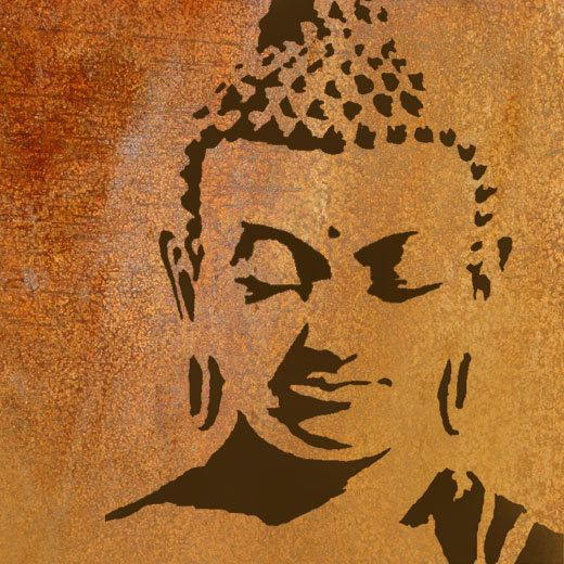 25 best ideas about buddha wall art on pinterest buddha for Pochoir mural design