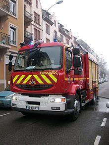 Véhicule d'intervention des sapeurs-pompiers