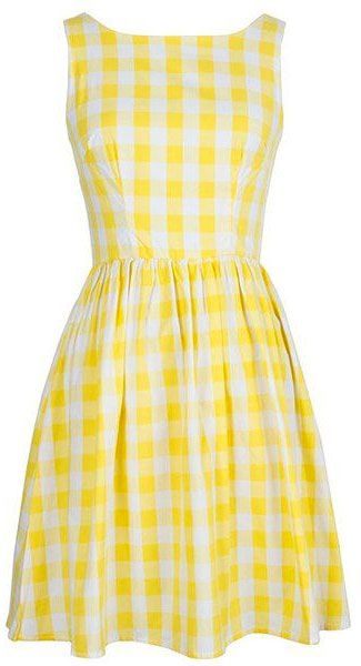 happy yellow picnic dress