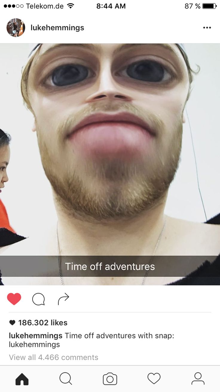 Lucas created his own public snapchat!