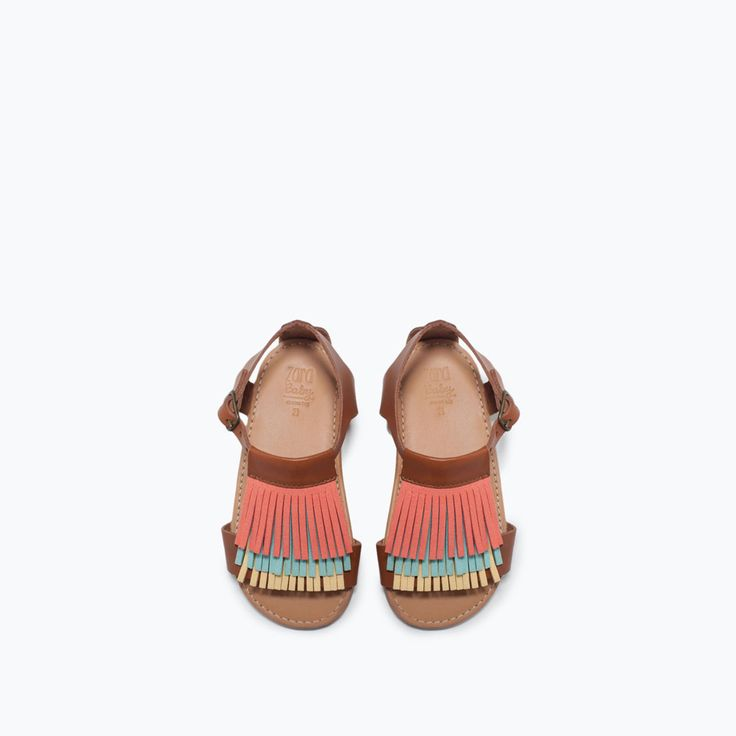 ZARA - NEW THIS WEEK - LEATHER SANDALS WITH FRINGES