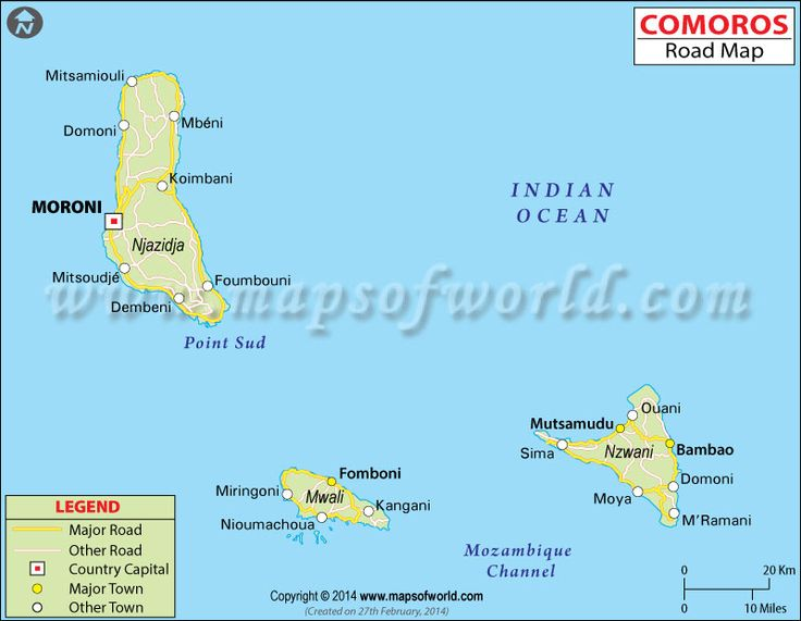 comoros drc road map shows the national highways expressways main roads and streets network spreaded across comoros with adjoining cities