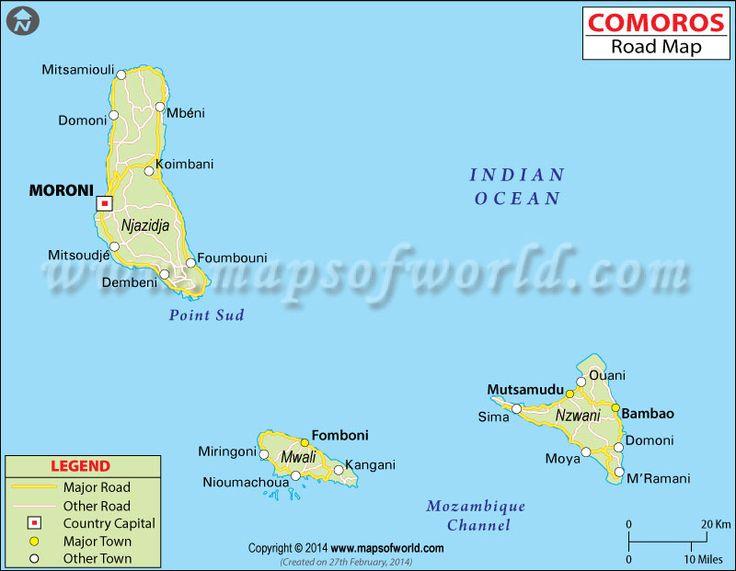 The Best Comoros Map Ideas On Pinterest Belgium Country - Comoros map