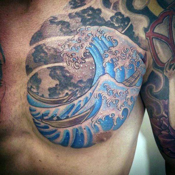 Top 59 Japanese Wave Tattoo Ideas 2020 Inspiration Guide Wave Tattoo Design Tattoos For Guys Japanese Wave Tattoos