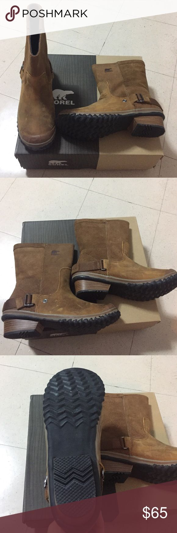 Sorel rain/snow weather suede booties. In great condition! Wore once only! Great for Rain and snow! Sorel Shoes Winter & Rain Boots