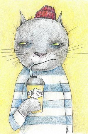 #Карандашики #cats #cat #кот #котик #кошки #кофе #желтый