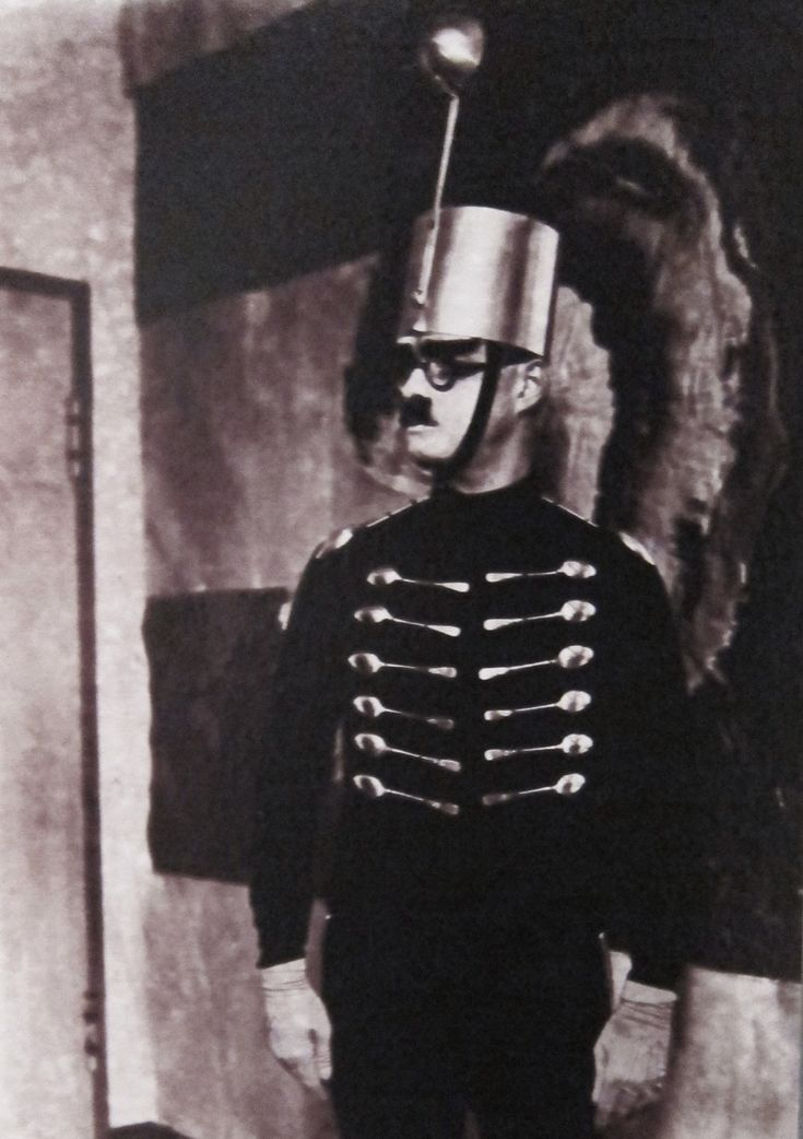 """Nonsense Soldier"", Costume for the Metal Party, Bauhaus, 1929 - ie, the pre-Seinfeld, pre-Nazi Soup Nazi."