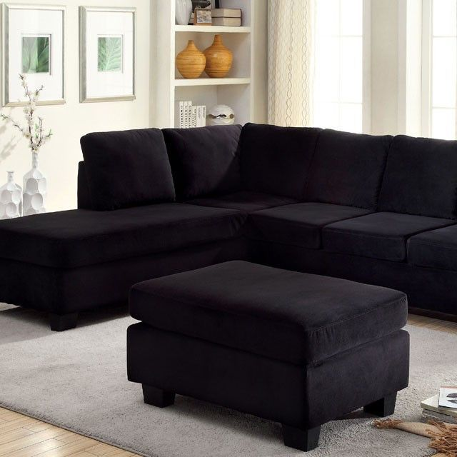 SECTIONAL SOFA LOMMA COLLECTION CM6316Upholstered In Plush Yet Durable  flannelette, This Modern Sofa Off Ers